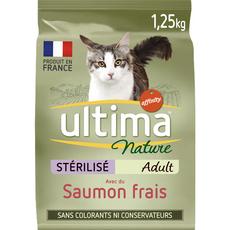 ULTIMA NATURE Croquette au saumon pour chat stérilisé 1,25kg