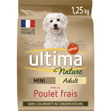 ULTIMA NATURE Mini croquettes poulet légumes céréales pour chien 1,25kg