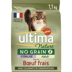 ULTIMA NATURE Croquettes no grain boeuf légumes pour chat stérilisé 1,1kg