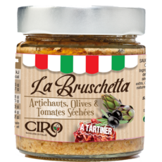 CIRO La Bruschetta à tartiner artichauts olives et tomates séchées 180g
