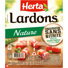 HERTA Lardons nature sans nitrite 2x75g
