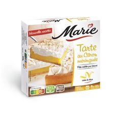 MARIE Tarte au citron meringuée à la pâte sablée pur beurre 6 portions 550g