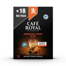 CAFE ROYAL Capsules de café espresso forte compatibles Nespresso 18 capsules 96g