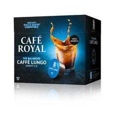 CAFE ROYAL Café lungo en capsule pour Dolce Gusto et Nespresso 16 dosettes 102g