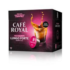 CAFE ROYAL Capsules de café lungo forte 16 capsules  104g