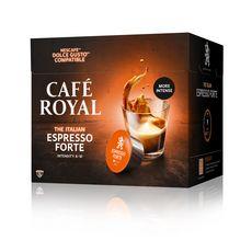 CAFE ROYAL Café espresso forte en dosette Dolce Gusto 16 capsules 108g