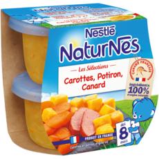 Nestlé NESTLE Naturnes bol carottes potiron et canard dès 8 mois