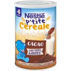NESTLE P'tite céréale au cacao en poudre dès 6 mois 400g