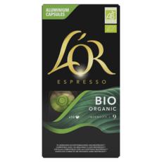 L'OR Capsules de café espresso bio intensité 9 compatibles Nespresso 10 capsules 52g
