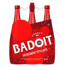 BADOIT Eau minérale gazeuse rouge intensément pétillante 6x1l