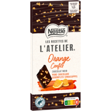 Nestlé NESTLE Recettes de l'Atelier tablette de chocolat noir orange confite