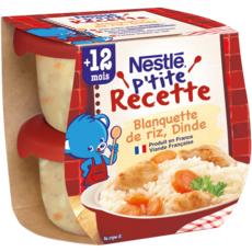 Nestlé NESTLE P'tite recette bol blanquette de riz et dinde dès 12 mois