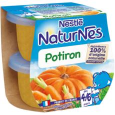 NESTLE Naturnes bol au potiron dès 4 mois 2x130g