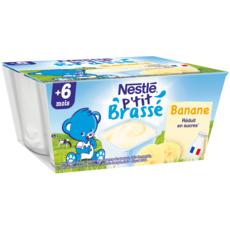 Nestlé NESTLE P'tit brassé petit pot dessert lacté à la banane dès 6 mois