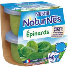 NESTLE Naturnes bol épinards dès 4 mois 2x200g