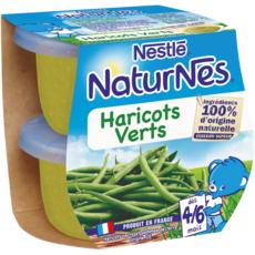 NESTLE Naturnes bol aux haricots verts dès 4 mois 2x130g
