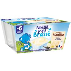 Nestlé NESTLE P'tit brassé petit pot dessert à la vanille dès 6 mois