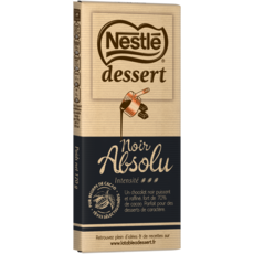 NESTLE DESSERT Tablette de chocolat noir pâtissier absolu 1 pièce 170g