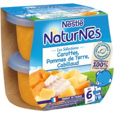 Nestlé NESTLE Naturnes bol carottes pommes de terre et cabillaud dès 6 mois