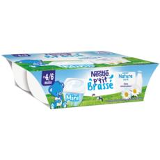 Nestlé NESTLE P'tit brassé pot dessert lacté nature sucré dès 4 mois