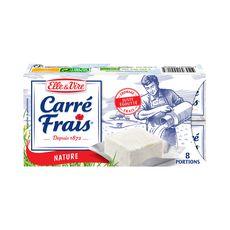ELLE & VIRE Carré Frais Fromage frais demi-sel en portion x8 8 portions 200g