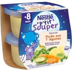 Nestlé NESTLE P'tit souper bol purée aux 7 légumes dès 8 mois
