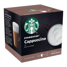 STARBUCKS Capsules de café cappucino compatibles Dolce Gusto 2X6 capsules 120g