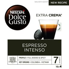 DOLCE GUSTO Capsules de café Espresso Intenso compatibles Dolce Gusto 16 capsules 112g