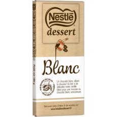NESTLE DESSERT Tablette de chocolat blanc pâtissier 1 pièce 180g