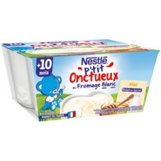 Nestlé NESTLE P'tit Onctueux pot dessert lacté fromage blanc au miel dès 10 mois