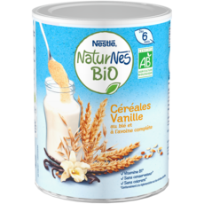 NATURNES BIO Céréales bio en poudre à la vanille dès 6 mois 240g