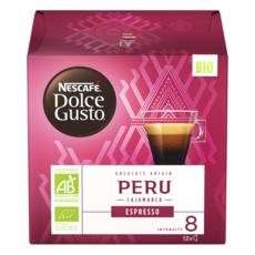 DOLCE GUSTO Capsules de café bio espresso du Péru Cajamarca compatibles Dolce Gusto 12 capsules 84g