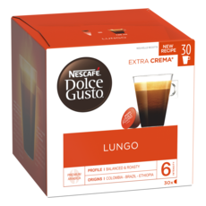 NESCAFE Capsules de café Lungo compatibles Dolce Gusto 30 capsules 195g