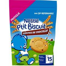 Nestlé NESTLE P'tit biscuit aux pépites de chocolat dès 15 mois