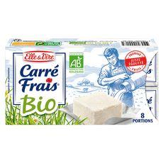 ELLE & VIRE Carré Frais Fromage frais bio x8 8 portions 200g