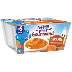 NESTLE P'tit gourmand petit pot crème dessert au caramel dès 6 mois 4x100g