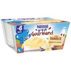 Nestlé NESTLE P'tit gourmand petit pot crème dessert vanille dès 6 mois