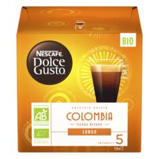 DOLCE GUSTO Capsules de café Lungo bio de Colombie Sierra Nevada compatibles Dolce Gusto 12 capsules 84g