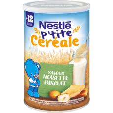 NESTLE P'tite céréale saveur noisette biscuité en poudre dès 12 mois 400g