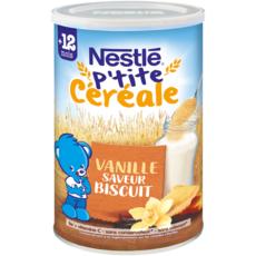 NESTLE P'tite céréale vanille saveur biscuit en poudre dès 12 mois 400g