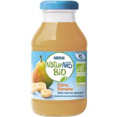 NESTLE Naturnes bio Jus de poire banane dès 6 mois sans sucres ajoutés 200ml