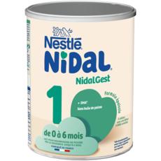 NESTLE Nidal 1 lait 1er âge en poudre épaissi de la naissance 800g