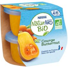 NESTLE Naturnes bol courge butternut bio dès 4 mois 2x130g