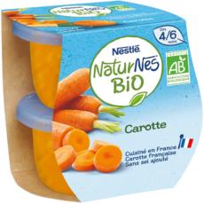 NESTLE Naturnes bol à la carotte bio dès 4 mois 2x130g