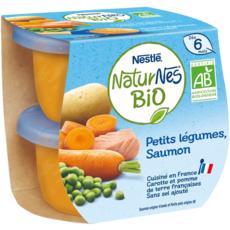 NESTLE Naturnes bol petits légumes et saumon bio dès 6 mois 2x190g