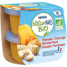 NESTLE Naturnes bol panais butternut et poulet bio dès 6 mois 2x190g