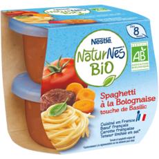 Nestlé NESTLE Naturnes bol spaghetti à la bolognaise bio dès 8 mois