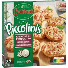 BUITONI Piccolinis - Mini flammekueche lardons et crème 9 pièces 270g