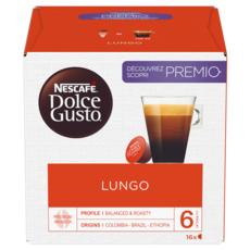 NESCAFE Capsules de café Lungo compatibles Dolce Gusto 16 capsules 104g