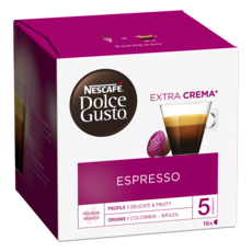 NESCAFE Capsules de café Espresso compatibles Dolce Gusto 16 capsules 96g